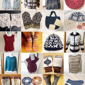 今年の編み物