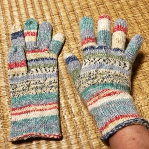 opalで5本指手袋