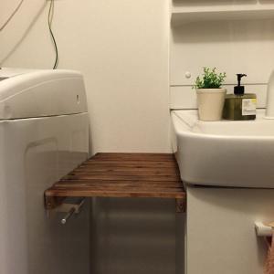 洗面所のちょい置きスペースを作りました。