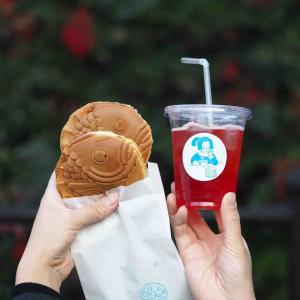 全国でも珍しい京都「あまいろコーヒーとたい焼き」の丸いたい焼き!