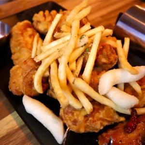【麻浦】ザクフワ衣が美味しいフライドチキン!@명동닭튀김/明洞タッティギム