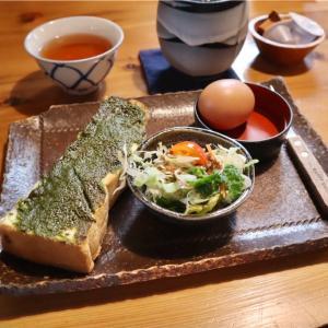 【稲沢市】ほろにが抹茶の和トーストモーニング@珈琲茶屋かぐら