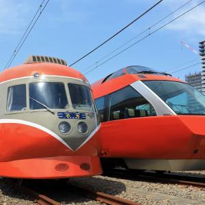 最後の編成並び 小田急ファミリー鉄道展