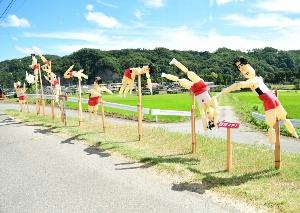 韮崎市円野町  かかし祭り