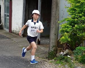 校外でのロードレース大会に向けての練習