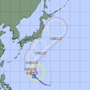 台風16号の進路が気になります