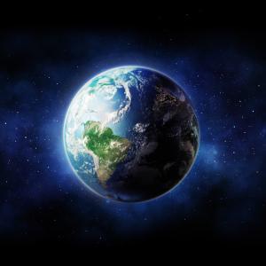 嵐の地球を切り抜ける