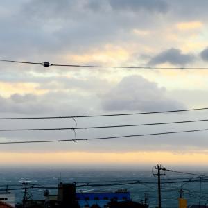 台風去って夕焼けが