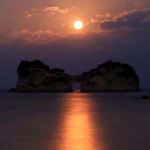 今朝も夜明け前から円月島通い