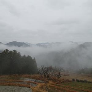 小雨の熊野古道中辺路の 「 霧の里高原 」