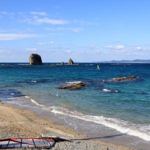 塔島とウインドサーフィン