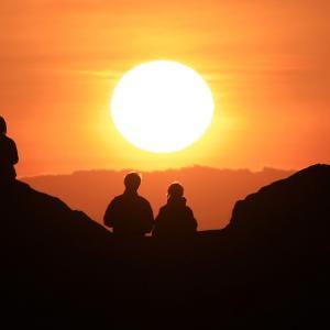 白良浜で迎えた落陽