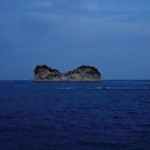南紀白浜の夜明けと夕日とスーパームーン