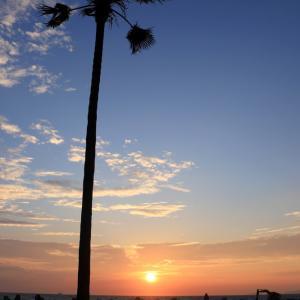 白良浜の夕日 & ジオサイト円月島のブルーアワー