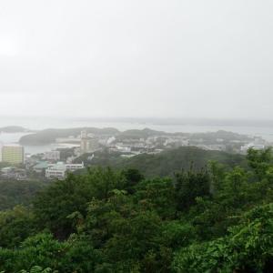 雨の白浜半島と三段壁