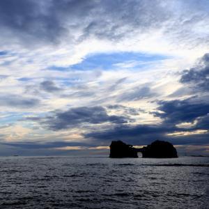 やっぱり美しい円月島の夕焼け