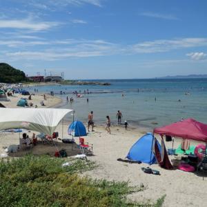 江津良海水浴場と白良浜海水浴場の今日