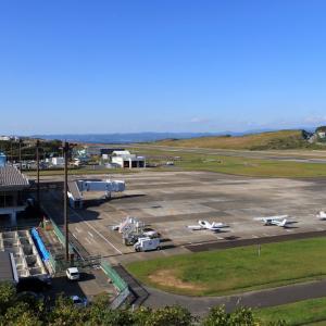南紀白浜空港に飛んで来たチャーター機と自家用機
