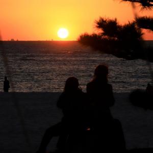 白良浜の護岸の上に飾った光の公園 『 シーサイドイルミネーション 』