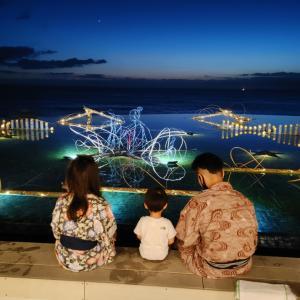 ホテルシーモアで開催されている「竹灯り」