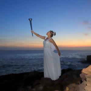 オリンピック開催に因んだ 「 アーテイスト アリーナ・オシャットさん 」 のモデル写真