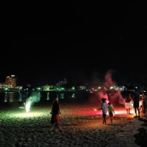 白良浜の夜 & メッセージ花火