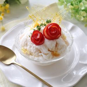 モナンシロップでキャラメルココナッツのかき氷♪
