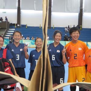 #フットサル女子 折り鶴日本代表応援団!#ユースオリンピック 10月15日対スペインは午後4時キックオフ