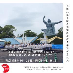長崎平和記念式典アルゼンチンをはじめスペイン語圏の人達と遠隔参列しよう! 長崎市のライブ中継スペイン語通訳付Ceremonia de Oraciones por la Paz de Nagasaki a distancia Asistimos en forma VIRTUAL