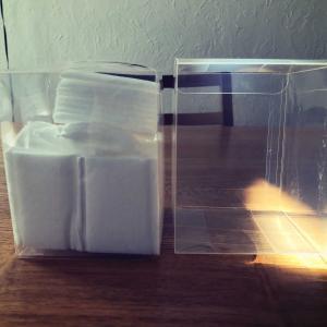 無印良品のクリアケースに見えなくもない透明BOXで洗面台をスッキリと見せる!!!
