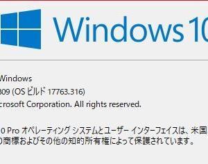 【WindowsUpdate】2019年2月分アップデート ビルド17763.253