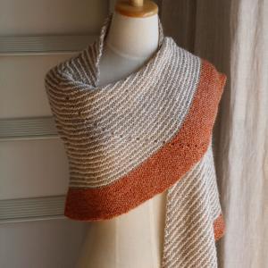 毛糸だまvol.183より ロフトの半円ショールを編みました