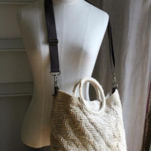 ジュートの2wayバッグを編みました