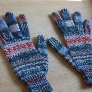 指先から編む手袋 ~Turkish Cast Onで~
