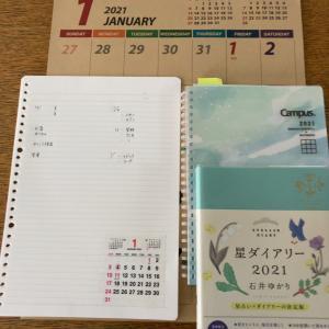 2021年の手帳とカレンダー