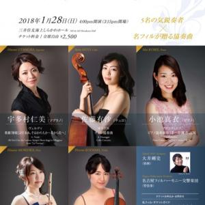 Sibelius Violin Concerto 1月28日演奏会のお知らせ