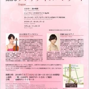 Motart violin sonata KV304 1/11演奏会