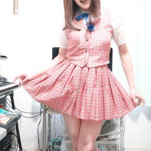 赤チェックコスで変身♪後編(女装開始12周年企画☆)
