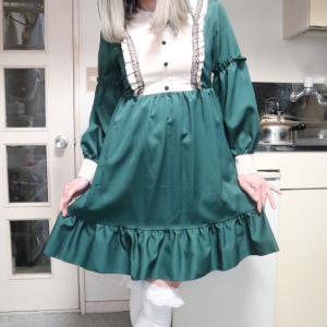 緑のロリィタ風ワンピで変身っ☆前編