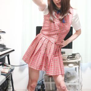 赤チェックコスで変身♪前編(女装開始13周年企画です☆)+今日が記念日☆