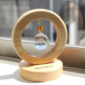 木原景子さんの円満、丸くなる、繋がる、縁起の良い丸型【円満木製スタンド付きサンキャー】