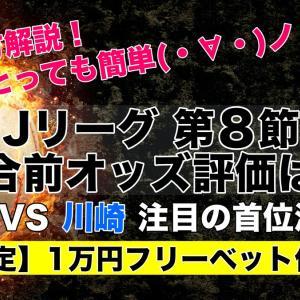 【ウィリアムヒル×Jリーグ予想】第8節 試合前オッズ評価(2020年)川崎対G大阪の首位決戦!ほか…
