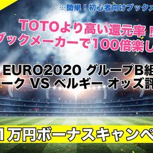 【EURO2020】デンマークVSベルギー試合予想オッズ,成績ランキングは!?グループB組
