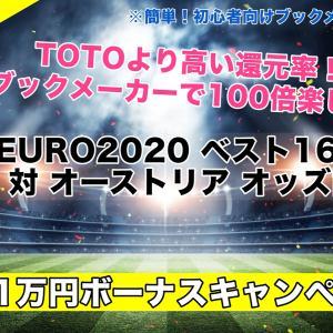 イタリア対オーストリア【EURO2020】試合予想オッズ,成績評価,ベスト16/決勝T1回戦