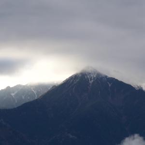 北アルプス初冠雪
