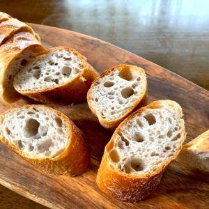 自家製酵母バケットと試作パンを^ ^