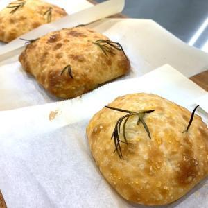 「サマーマンゴーパイン」と「ホシノ酵母でローズマリーフォカッチャ2020」のレッスン