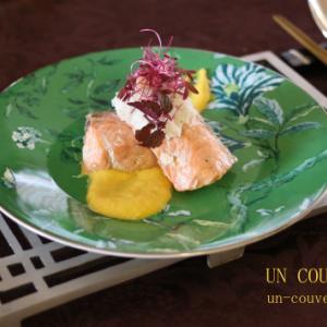 秋鮭のパプリカソース