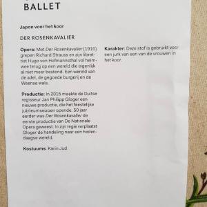 オランダ国立オペラバレエに寄付をしたら、、、