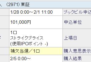 【抽選結果のご報告】エスコンジャパンリート投資法人 補欠